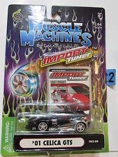 MUSCLE MACHINES IMPORT TUNER '01 CELICA GTS WHITE  1:64 SCALE