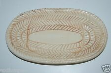 WOW Vintage Bread Plate Pottery Cal California Original White Platter Rare
