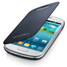 ORIGINALE Samsung GT-I8200 Flip Case Cover per Galaxy S III S3 Mini-Pebble Blu