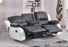 Ledersofa Kinosofa Relaxcouch Fernsehsofa Recliner 5129-Cup-2-SW