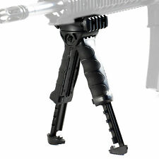 Grip Tactical Hunting Quick Release Bipod Adjustable Ergonomic Spring Foregrip