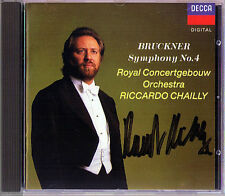 Riccardo CHAILLY Signiert BRUCKNER Symphony No.4 Romantic Concerthebouw CD 1990