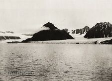 1924 Original SCANDINAVIA Photo Gravure Norway Spitsbergen Ship Snow Landscape