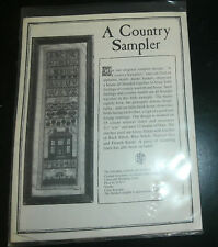 A Country Sampler The Examplarery Cross Stitch Kit Linen Sheep House ABC 123