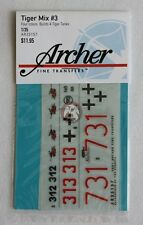 Archer 1/35 German Tiger I & II Tank Markings Mix #3 (builds 4 tanks) AR35157