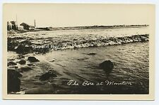 Tidal Bore Moncton New Brunswick CANADA - Building Background - Real Photo RPPC