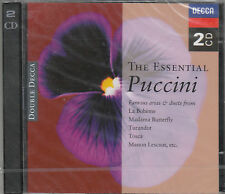 THE ESSENTIAL PUCCINI FAMOUS ARIAS BOHEME, MADAMA, TURANDOT, TOSCA ECC ECC. 2 CD