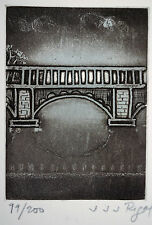 JJJ RIGAL (1926-1997), ESTAMPE Signée Numérotée Autographe, CARTE de VOEUX 1958