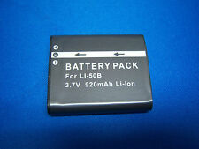 LI-50B BATTERY FOR OLYMPUS TG-820 iHS STYLUS Tough 6020 8000