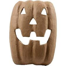 Halloween Face Mask Pumpkin Craft Paper Mache Make Your Own Decoration Model Art