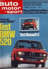 ams 22/72 BMW 520 & 520 i/Renault 5 R5/Porsche Carrera RS/Fiat 126/ 28.10.1972