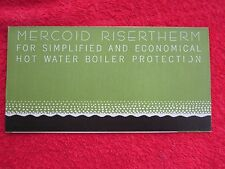 1930's MERCOID RISERTHERM FURNACE BOILER TEMPERATURE CONTROL BROCHURE