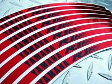 Red  CHROME  Yamaha  R1  Logo  Rim Stripes / Wheel Tape / Stickers YZF-R1 R1M