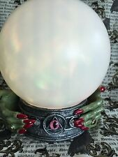 Fortune Teller Color Changing Ball WITCH Hands w/ Red Nails & All Seeing Eye