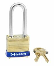 Lock by Master Brass 8KALF Keyed Alike $25 or MORE FREE SHIPPING!! Long Shackle