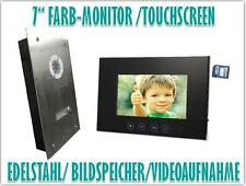 "7"" Monitor Türsprechanlage Gegensprechanlage Türklingel Video Bildspeicher"