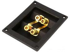 dual Speaker Box Terminal. gold plated connectors.
