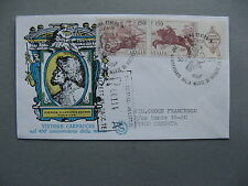 ITALY, cover FDC 1976, strip of 3 St George dragon (diff cover design 1)