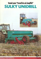 Farm Equipment Brochure - Sulky - Unidrill - Semoir - 1992 (F1530)