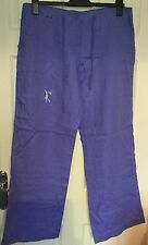 Ladies Linen Trousers Cornflower Blue Long Length from Primark Size 14 New