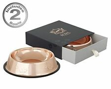 Dog Food Bowls in Designer Rose Gold by Beautiful Things Online - Set of 2 - ...