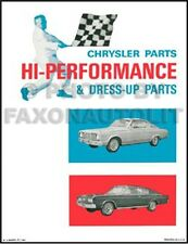 Performance Parts Book Barracuda Satellite Belvedere 1964 1965 1966 Plymouth