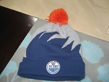 MENS EDMONTON OILERS Mitchell & Ness Winter POM BEANIE  SHARK TOOTH  NWT