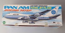Pan Am Boeing 747Sp#Battery Operated Flying Jet Plane By Echo Nib Super Rare