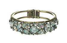 Afterglow Color Collection, Aqua Crystals Bangle Bracelet By Sorrelli,Pageant