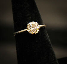 GIA 1.28ct Round Brilliant Cut Diamond, Fancy Light Brown Natural 14K White Ring