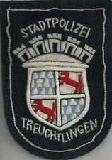 Polizei BAYERN Stadtpolizei TREUCHTLINGEN Abzeichen handgest Patch StaPo 60er J.