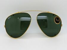 RAY Ban Aviator 62mm clip su G-15 B&L Original vintage frame Made in U.S.A.