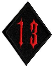 Number 13 patch black and red #13 applique patch iron on/ sew on