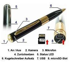 Kugelschreiber Kamera gold mini Kamera spy cam Überwachungskamera Mini DV new dv