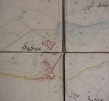 DELORT Ville de Sadroc. Corrèze. Plan Géométrique Propriétés de M. Delort. 1841