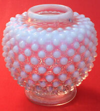 VINTAGE FENTON White OPALESCENT GLASS HOBNAIL MINI BUD VASE clear mint condition