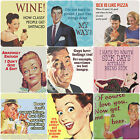 Retro Humorous Coasters Rude Humour Funny Novelty Single Coaster Tableware