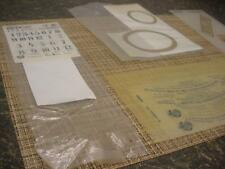 New Reverse Glass Regulator Clock Applique & Label Replacement D497e