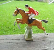 Vintage Truck Car Hood Ornament Horse Jockey Rider, Used
