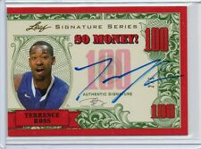 (F48) 12-13 Terrence Ross Leaf Signature Series SO MONEY RED AUTO RC #D 2/5
