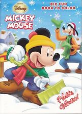 Disney Mickey Mouse Christmas Coloring Book ~ Hello, Winter! - FREE SHIPPING