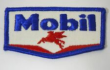 """MOBIL OIL & GAS Embroidered Iron On Uniform-Jacket Patch 3.5"""""""