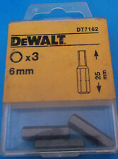 Dewalt Screwdriver Bits 6mm Hex / Allen / Hexagon Key Bit X 3