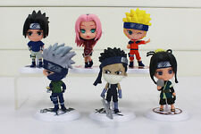 ACTION FIGURE TOY STATUE MANGA ANIME NARUTO SASUKE KAKASHI SET 6PCS 7,5CM 3INCH