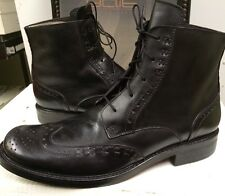 Made in Italy By Bait Men's  309T01 Black Leather Boots  Size 12 D New