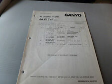SANYO JAV16VE A/V CONTROL CENTER  SERVICE MANUAL