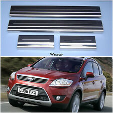 Ford Kuga SUV 07-13 Silver Stainless Steel Kick Plate Door Sill Protectors K147