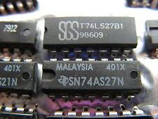 10 circuits TTL 74LS27 - SGS