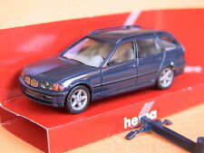 Herpa BMW 3-er E-46 1999 Touring Schnitzerfelgen dunkelblau 2287 OV