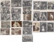 25 CARTE PHOTO SALONS DE PARIS - PEINTURES - TABLEAUX - SCULPTURE